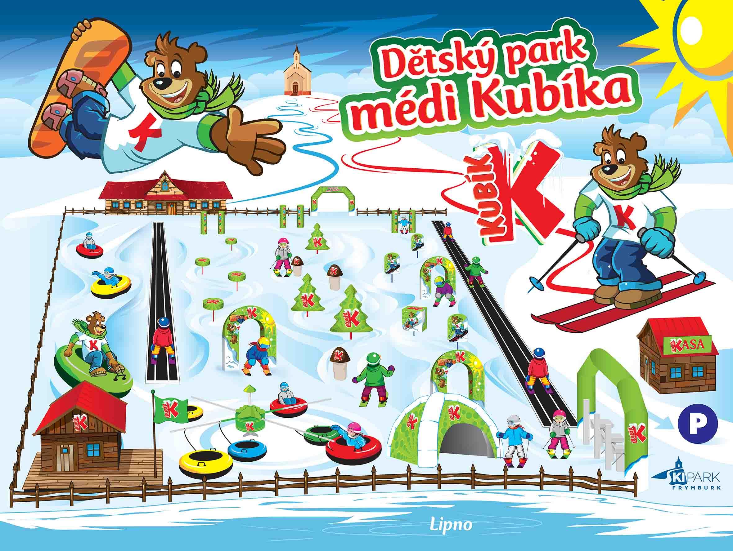 mapa dětského parku Frymburk
